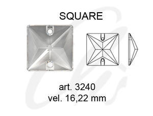 Swarovski SQUARE 3240 - 16mm  Crystal - 2