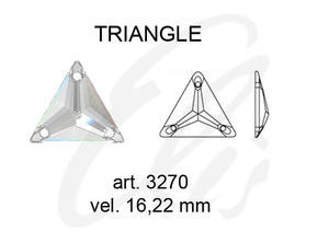 Swarovski TRIANGLE 3270 - 16mm  Crystal - 2