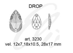 Swarovski DROP 3230 - 12x7mm  Blue Zircon - 2