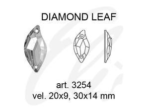 Swarovski DIAM. LEAF 3254 - 20x9mm  Crystal - 2