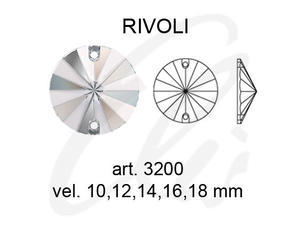 Swarovski RIVOLI 3200 - 10mm  Light Silk - 2