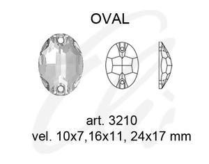 Swarovski OVAL 3210 - 24x17mm  Crystal - 2