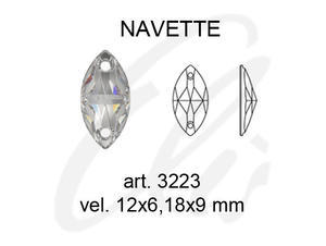 Swarovski NAVETTE 3223 - 12x6mm  Light Siam - 2